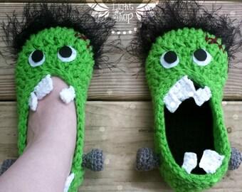 ANY SIZES Frankenstein Slippers