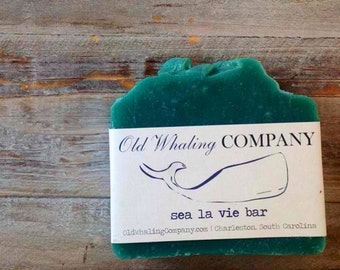 Sea La Vie Soap Bar // Teal Nautical Fresh Fragrance Bar Soap // Natural Bar Soap // Handmade Bar Soap / Cold Process Bar Soap