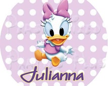 Daisy Duck favor tags | Daisy Duck plate labels | Daisy Duck cup labels