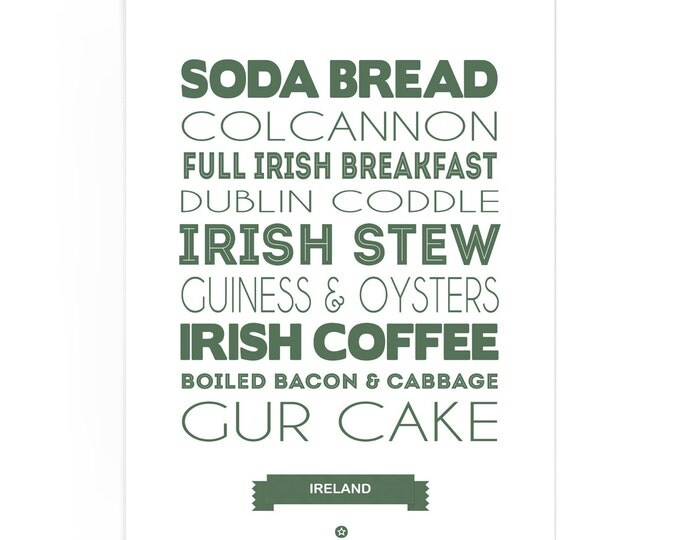 Poster Ireland Foodie