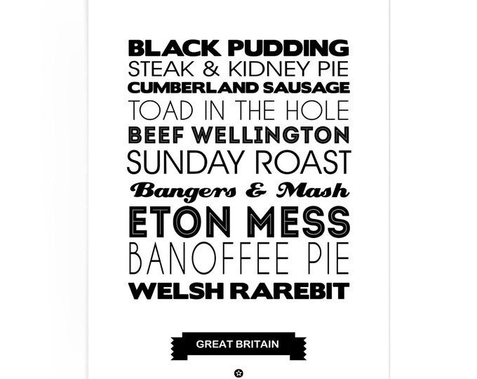 Poster Great Britain Foodie
