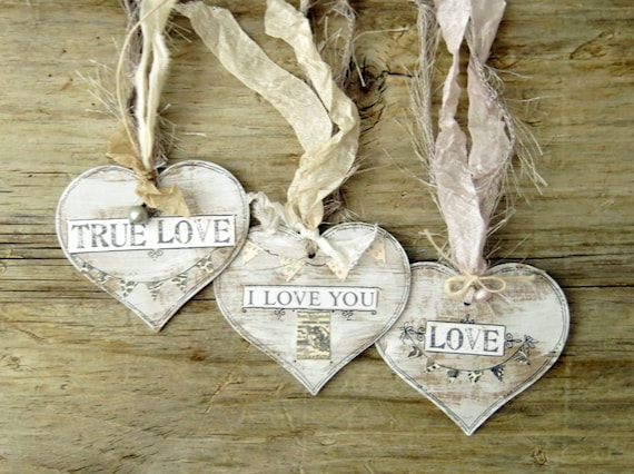 Wedding Heart Gift Tags : Heart Tags, Shabby Chic Tags, Wedding Tags, Gift Tag, Rustic Heart Tag ...