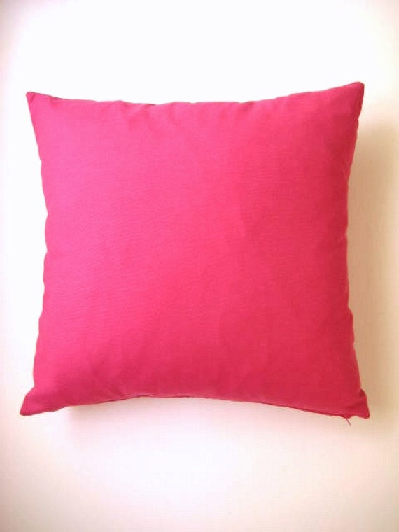 Linen Pink Pillow Cover - Fuchsia - Gift for Her, for Mom - Ready to Ship - 20 18 16 14 inches