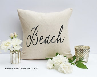 Beach Pillow Cover 18 x 18