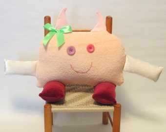 button eyed cloth monster rag doll