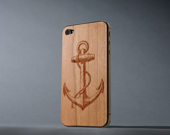 Anchor iPhone 4/4s Real Cherry Wood Skin - Made in the USA - FREE Shipping