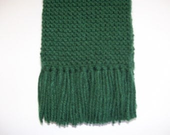 Forest Green Hand Knitted Scarf