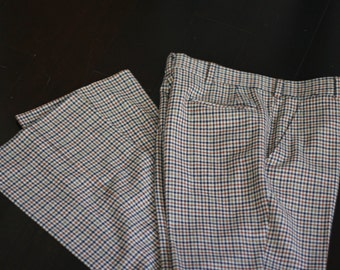 vintage men's wool pants by hart, shaffner and marx for eschdrille size32W