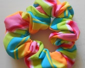 Private Listing for Jenifer 200 Assorted Girls Hair Scrunchie in Candy Stripe Spandex Fabric