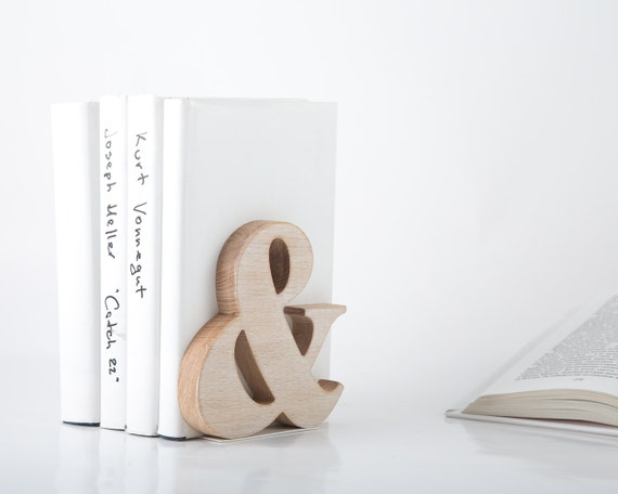Modern stylish bookend Ampersand