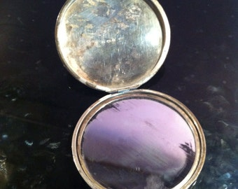 20s silver pocket mirror