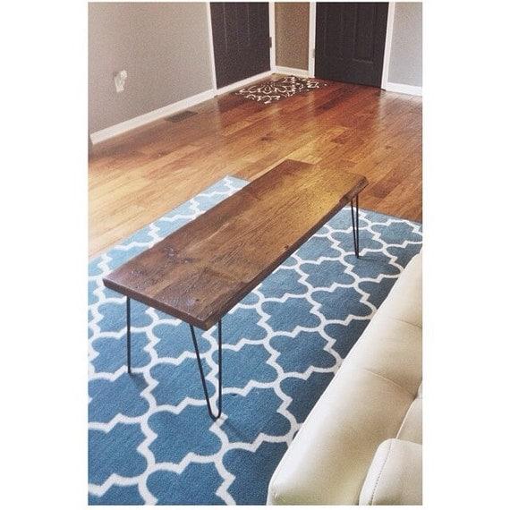 Reclaimed Wood Mid Century Coffee Table