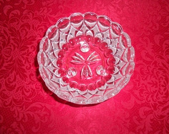 Vintage Crystal bowl made in Germany beautiful etching