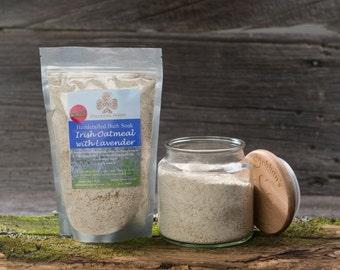 Irish Oatmeal Bath Soak with Lavender - Handmade bath soak - Oatmeal bath soak