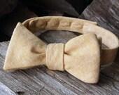 Men's Bow Tie- Tan Linen
