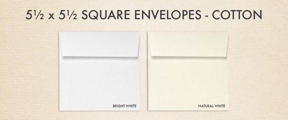 5 1/2 x 5 1/2 Square Envelopes w/Peel & Press 100% Cotton Collection (50 Qty.)