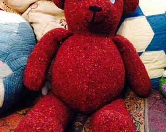 Button Eye Fabric Bear