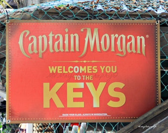 Key West Sign Photo / Captain Morgan Photo / Free US Shipping / MVMayoPhotography