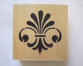 """Whispers Medallion Ornament  Rubber Stamp Stencil Size 2"""" Length E618s"""