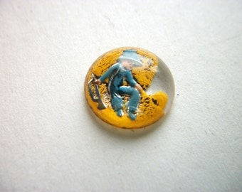 Vintage Little Boy Blue Fairy Tale Intaglio Cabochon    # W 15