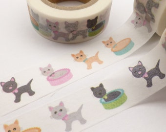 Colorful Kittens Cat  Washi Tape - K824