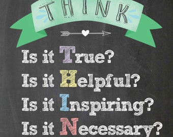 Think Poster 11x14