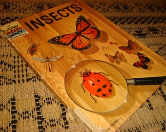 vintage 1960 How and Why Books INSECTS Colored Pictures Ants Bees Wasps Collecting Insects