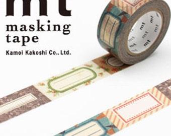 MT Washi Masking Deco Tape Antique Labels Design