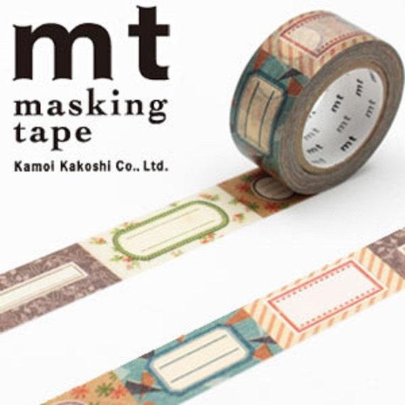 mt washi masking deco tape antique labels design. Black Bedroom Furniture Sets. Home Design Ideas