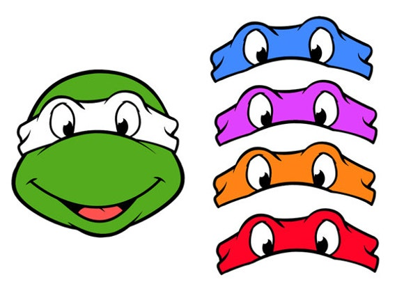 Influential image intended for ninja turtle printable masks