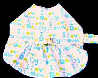 Flannel Dog Dress, Small Dog Dress, Dog Dress, Dog Clothes, Dog Clothing, Made to Order,Small Dog Clothes, Toy Dog Dress, Teacup Dog Drss