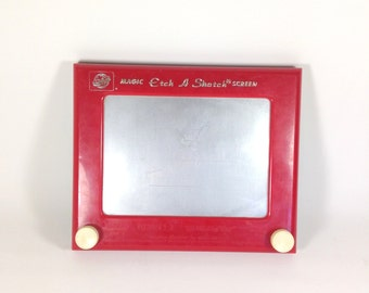 REDUCED~Vintage Etch A Sketch - 80s etch a sketch - Vintage Toys - Vintage Game - Photo Prop