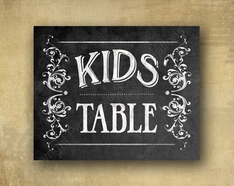 Kids Table - chalkboard signage -  with optional add ons - Rustic Heart Collection