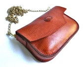 Small leather purse, across the body purse, leather shoulder bag