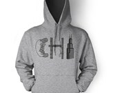 Chicago Hoodie - Chicago Sweatshirt - Chi town - Chicago Hot Dog - Unisex Sizing