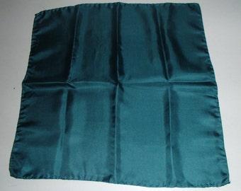 VINTAGE ITALIAN SILK Scarf Aquamarine Blue High Quality Silks