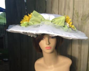 White Edwardian Era Hat