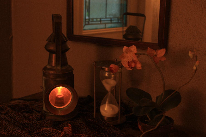 Antique Copper Candle Lantern Lamp