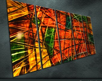 """Original Metal Wall Art Modern Sculpture Indoor Outdoor Decor """" Cross the United States """" by Ning"""