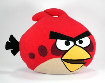 Angry Birds Pillow Red Handmade Decorative