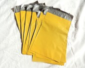 20 Mustard Yellow 6x9 Poly Mailer Envelopes, 6x9 Flat Self Sealing Poly Mailing Flat Plastic Shipping Bag Mailers