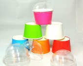 20 8 oz Party Cups - Choose 6 Colors Ice Cream Cups Yogurt Cups Fruit Cups Candy Cups Tough Strong and Sturdy Cold Cups Hot Cups Paper Cups.