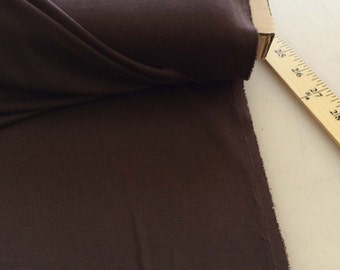 """Ponte Roma Jersey Fabric Brown - F-48-13 Listing for 1 yard & 58"""" wide"""