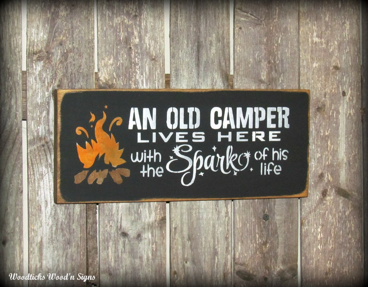 Camping Sign Campsite Sign Campfire Wood Sign An Old by ...