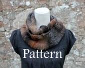 KNITTING PATTERN - Dark cloud infinity loop scarf - Listing94