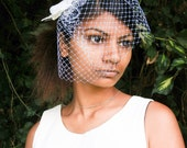 Monarch glen feather butterfly hair comb with birdcage veil  hairpiece bridal wedding boho woodland hair weddings headpiece white fascinator