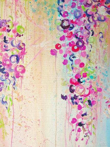 DANCE Of THE SAKURA Fine Art Painting Shower Curtain Floral