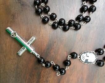 skull cameo rosary