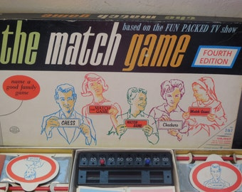 1965 The Match Game  -Fourth Edition Milton Bradley #4320 MB Vintage Board Game,Vintage board Game,Family Game Night,Board Game  :)