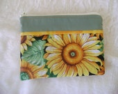 Sunflowers Zippered Pouch